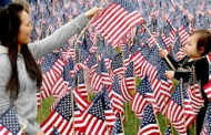 37,000 Flags on Common Honor Fallen Massachusetts Soldiers