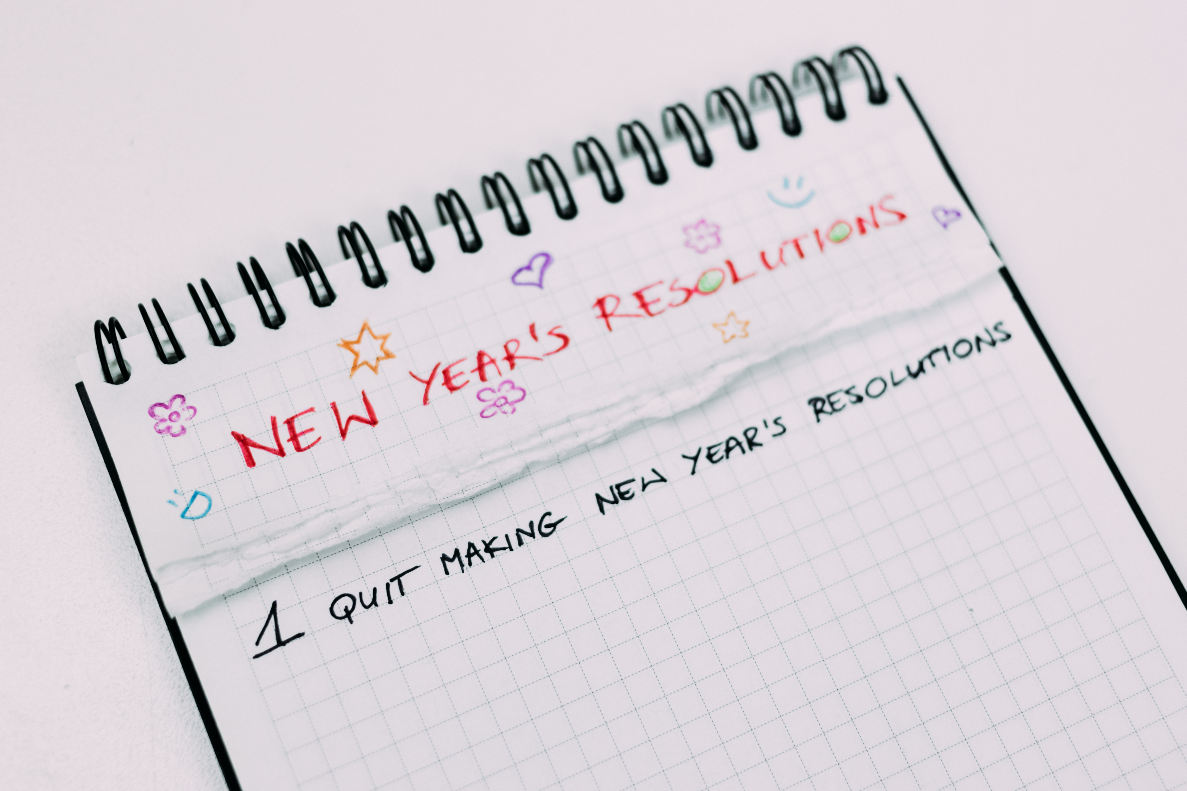 New year resolution for teen